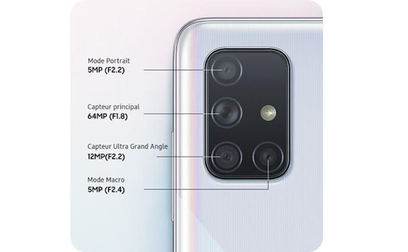 Téléphones neufs Description Samsung Galaxy A71 3 en Martinique, en Guadeloupe, en Guyane et à la Réunion