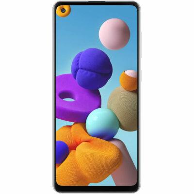 Téléphones neufs Samsung Galaxy A21s Blanc 1 en Martinique, en Guadeloupe, en Guyane et à la Réunion