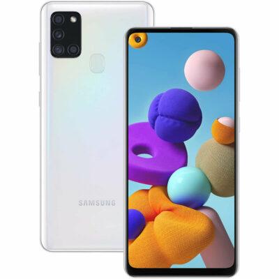 Téléphones neufs Samsung Galaxy A21s Blanc 3 en Martinique, en Guadeloupe, en Guyane et à la Réunion