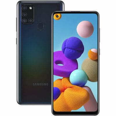 Téléphones neufs Samsung Galaxy A21s Noir 3 en Martinique, en Guadeloupe, en Guyane et à la Réunion
