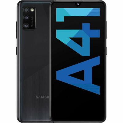 Téléphones neufs Samsung Galaxy A41 Noir 1 en Martinique, en Guadeloupe, en Guyane et à la Réunion