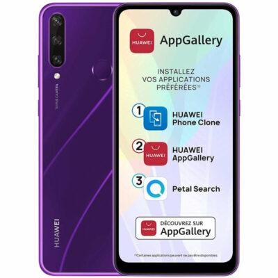 Téléphones neufs Huawei Y6P Violet 1 en Martinique, en Guadeloupe, en Guyane et à la Réunion