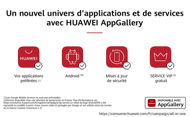 Téléphones neufs Huawei AppGallery en Martinique, en Guadeloupe, en Guyane et à la Réunion