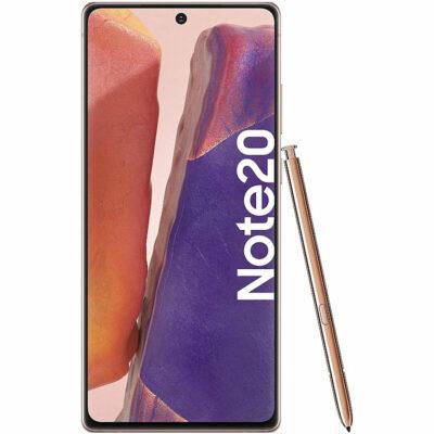 Téléphones neufs Samsung Note 20 Or 1 en Martinique, en Guadeloupe, en Guyane et à la Réunion
