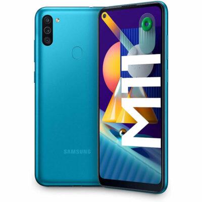 Téléphones neufs Samsung M11 Bleu 7 en Martinique, en Guadeloupe, en Guyane et à la Réunion