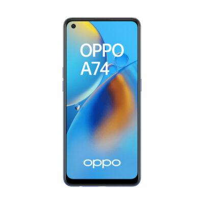 Téléphones neufs Oppo A74 Bleu 1 en Martinique, en Guadeloupe, en Guyane et à la Réunion