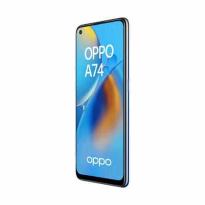 Téléphones neufs Oppo A74 Bleu 4 en Martinique, en Guadeloupe, en Guyane et à la Réunion