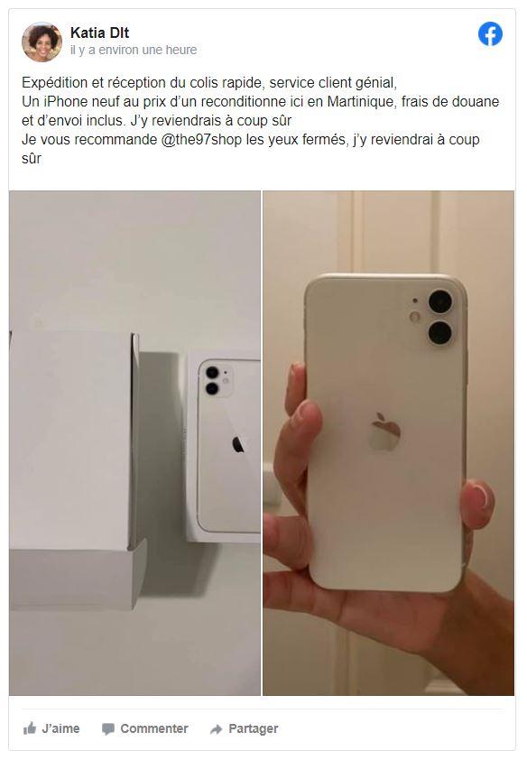 Téléphones neufs 1 en Martinique, en Guadeloupe, en Guyane et à la Réunion