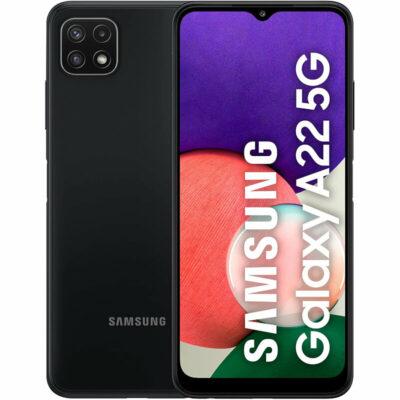 Téléphones neufs Smartphone Samsung Galaxy A22 5G Noir 1 en Martinique, en Guadeloupe, en Guyane et à la Réunion