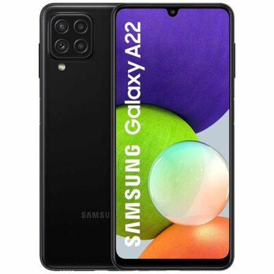 Téléphones neufs Smartphone Samsung Galaxy A22 Noir 1 en Martinique, en Guadeloupe, en Guyane et à la Réunion